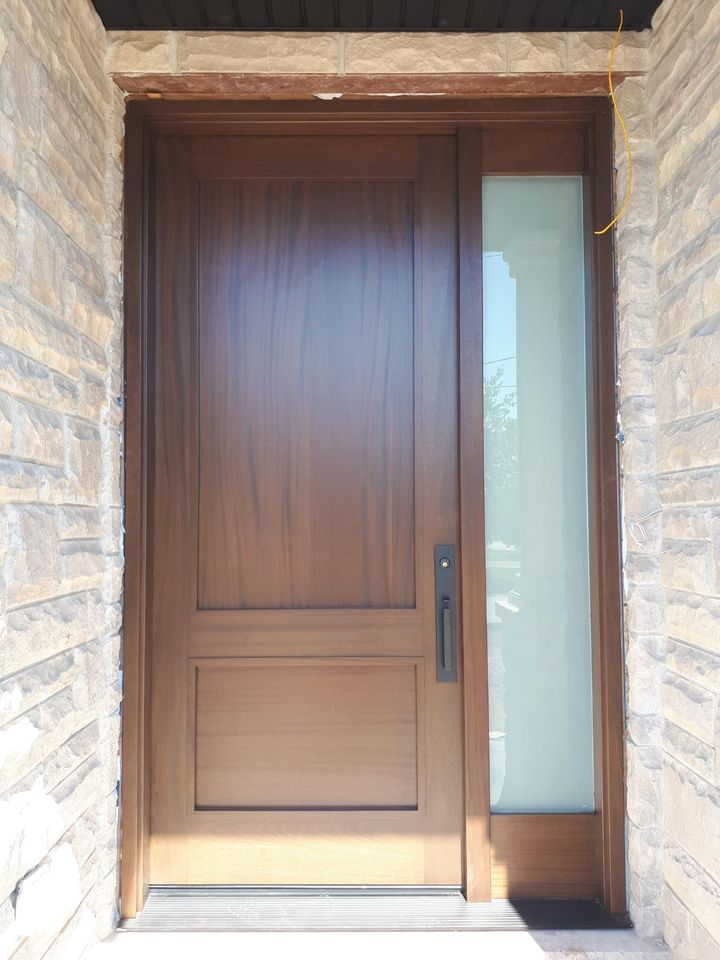 """""""Consistent action creates consistent results."""" #SolidWood, #Doors, #Wood, #Mahogany, #CustomMadeDoors, #DoorSupplier, #ExteriorDoors, #InteriorDoors #DoorManufacturer, #EntryDoors. #Woodwork, #MadeinCanada, #DistinctiveLook, #FityourHome Made by #NorthwoodDoorsInc. Your best value and quality, #HandCraftedDoors. Every door manufactured by us has our corporate stamp - a testament to our dedication and passion in woodwork. Let #NorthwoodDoorsInc. add to your home's #CurbAppeal by enhancing the quality and beauty of your #EntryDoors. Visit our #Showroom to envision how one of our many #doors on display might look like at your #Home. Contact us today Tel. 416-253-2034, info@northwooddoors.com, www.northwooddoor.com — in Toronto, Ontario"""
