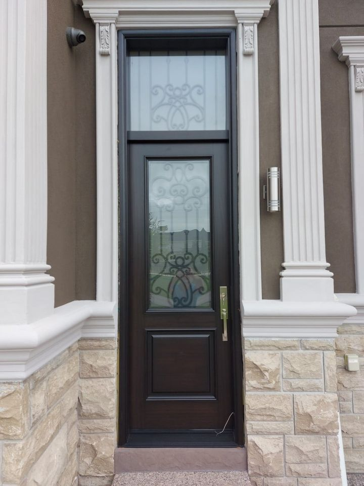 """""""Design is not just what it looks like and feels like. Design is how it works."""" #SolidWood, #Doors, #Wood, #Mahogany, #CustomMadeDoors, #DoorSupplier, #ExteriorDoors, #InteriorDoors #DoorManufacturer, #EntryDoors. #Woodwork, #MadeinCanada, #DistinctiveLook, #FityourHome Made by #NorthwoodDoorsInc. Your best value and quality, #HandCraftedDoors. Every door manufactured by us has our corporate stamp - a testament to our dedication and passion in woodwork. Let #NorthwoodDoorsInc. add to your home's #CurbAppeal by enhancing the quality and beauty of your #EntryDoors. Visit our #Showroom to envision how one of our many #doors on display might look like at your #Home. Contact us today Tel. 416-253-2034, info@northwooddoors.com, www.northwooddoor.com — in Toronto, Ontario"""