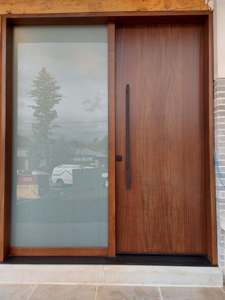 """""""As polishing expresses the vein in marble and grain in woods..."""" .#SolidWood, #Doors, #Wood, #Mahogany, #CustomMadeDoors, #DoorSupplier, #ExteriorDoors, #InteriorDoors #DoorManufacturer, #EntryDoors. #Woodwork, #MadeinCanada, #DistinctiveLook, #FityourHome Made by #NorthwoodDoorsInc. Your best value and quality, #HandCraftedDoors. Every door manufactured by us has our corporate stamp - a testament to our dedication and passion in woodwork. Let #NorthwoodDoorsInc. add to your home's #CurbAppeal by enhancing the quality and beauty of your #EntryDoors. Visit our #Showroom to envision how one of our many #doors on display might look like at your #Home. Contact us today Tel. 416-253-2034, info@northwooddoors.com, www.northwooddoor.com — in Toronto, Ontario"""