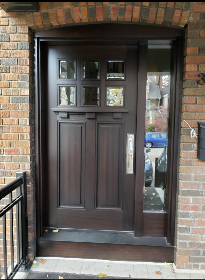 """""""You never get a second chance to make a first impression."""" #SolidWood, #Doors, #Wood, #Mahogany, #CustomMadeDoors, #DoorSupplier, #ExteriorDoors, #InteriorDoors #DoorManufacturer, #EntryDoors. #Woodwork, #MadeinCanada, #DistinctiveLook, #FityourHome Made by #NorthwoodDoorsInc. Your best value and quality, #HandCraftedDoors. Every door manufactured by us has our corporate stamp - a testament to our dedication and passion in woodwork. Let #NorthwoodDoorsInc. add to your home's #CurbAppeal by enhancing the quality and beauty of your #EntryDoors. Visit our #Showroom to envision how one of our many #doors on display might look like at your #Home.#interiordoor, #millwork #trim, #baseboard, #moulding, #doorstop, #doorjamb. Contact us today Tel. 416-253-2034, info@northwooddoors.com, www.northwooddoor.com — in Toronto, Ontario"""