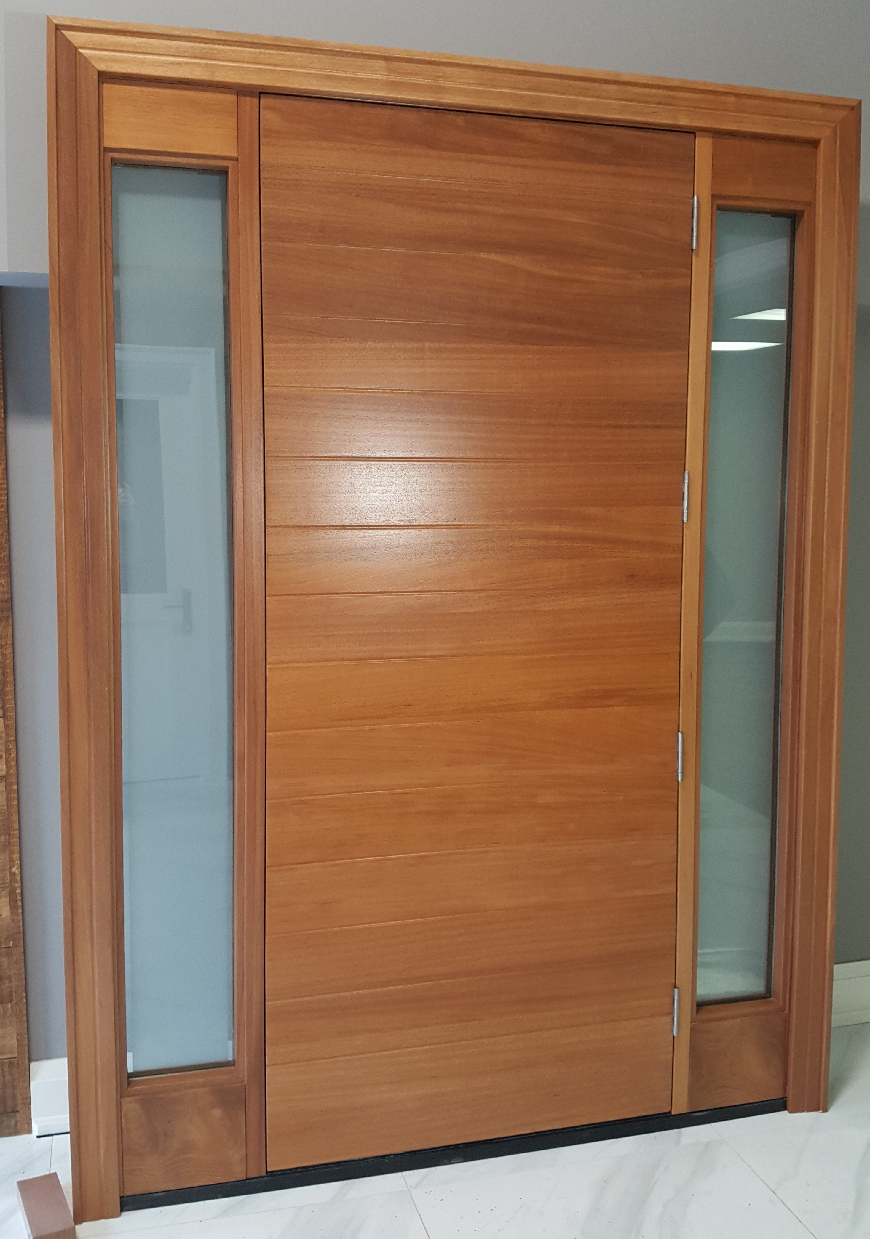 Modern Beauty  #SolidWood, #Mahogany, #CustomMade, #DistinctiveLook, #EntryDoor, #FityourHome for #WelcomeHome