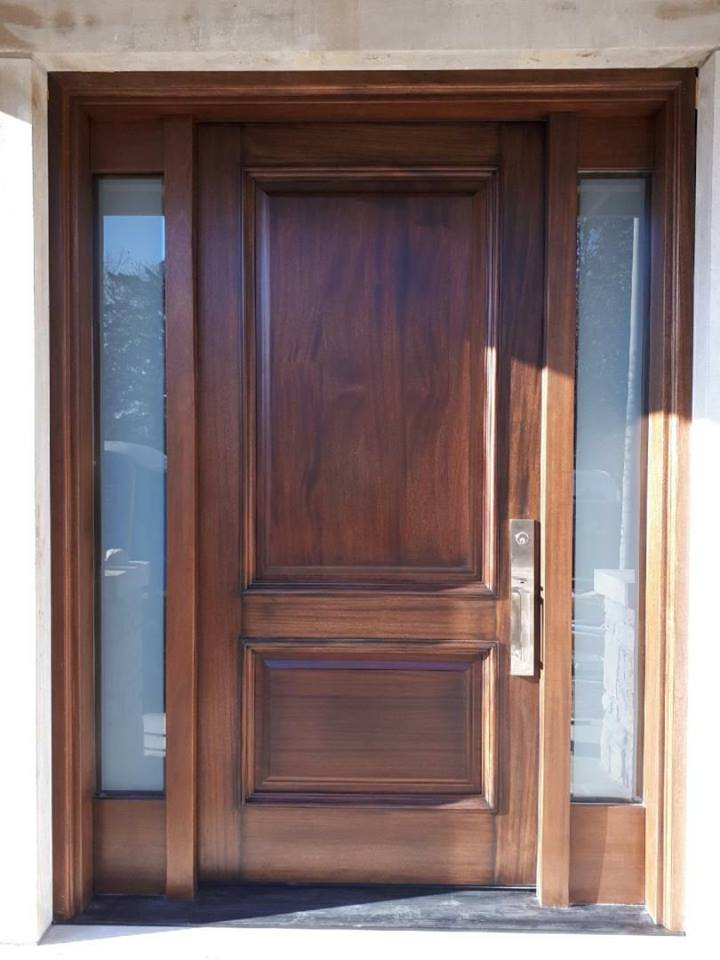 Lovely  #SolidWood, #Mahogany, #CustomMade, #EntryDoor.#DistinctiveLo­ok, #FityourHome Made by #NorthwoodDoorsInc
