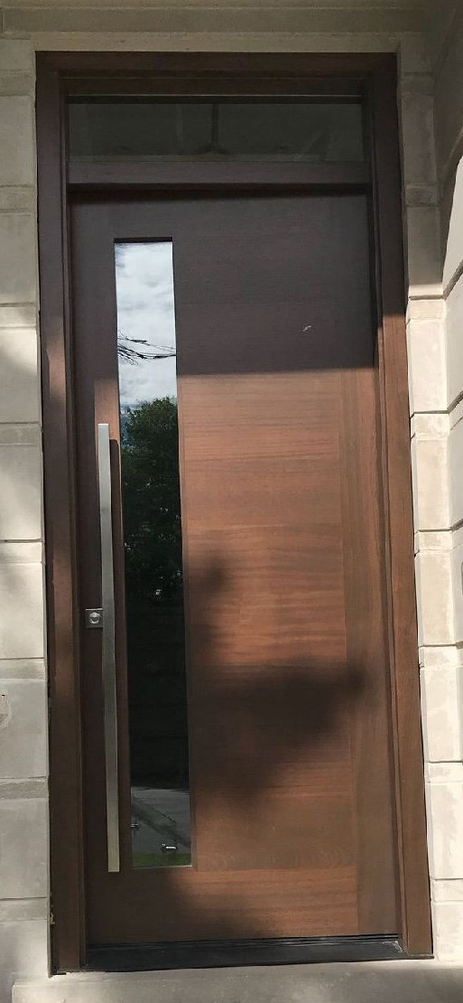 """Simplicity is the ultimate Sophistication"" #SolidWoodDoors, #Mahogany, #CustomMade, #CustomWoodDoors,#EntryDoors.#DistinctiveLo­ok, #FityourHome Made by #NorthwoodDoorsInc. Your best value and #QualityDoors, #HandCraftedDoors. Every door #ManifacturedDoors by us has our corporate stamp - a testament to our dedication and passion in #Woodwork. Let #NorthwoodDoorsInc. add to your home's #CurbAppeal by enhancing the quality and beauty of your #EntryDoor. #MadeinCanada Visit our #Showroom to envision how one of our many doors on display might look like at your home. Contact us today Tel. 416-253-2034, info@northwooddoors.com, www.northwooddoor.com — Toronto"