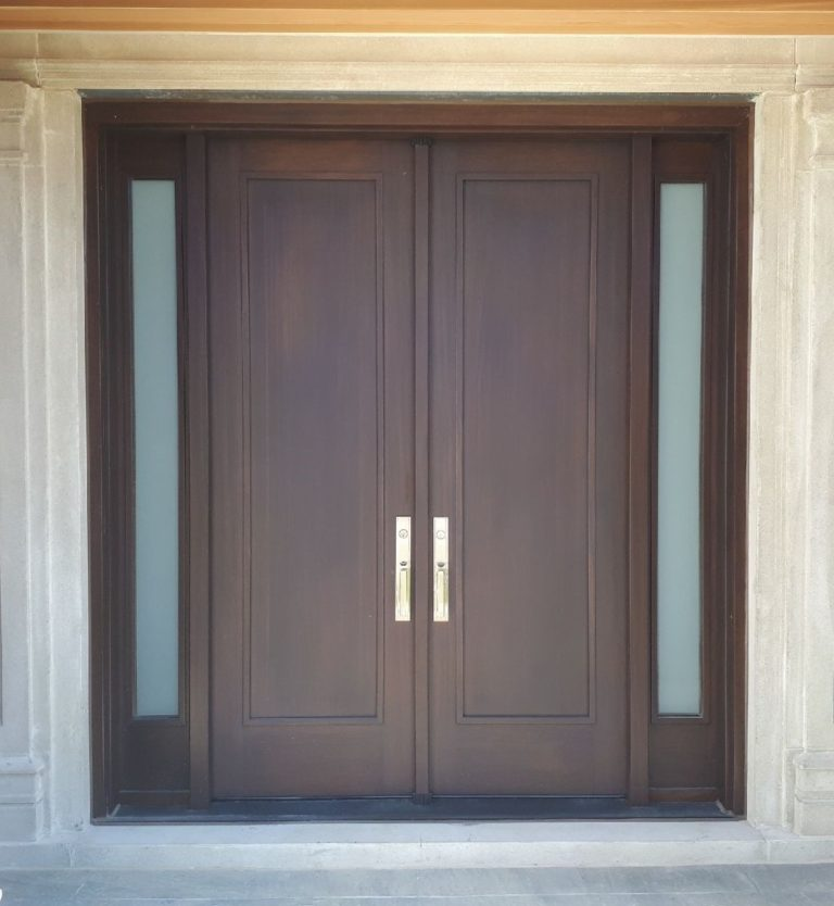 Great Project #SolidWood, #Mahogany, #CustomMade, #EntryDoor.#DistinctiveLook, #FityourHome Made by #NorthwoodDoors.