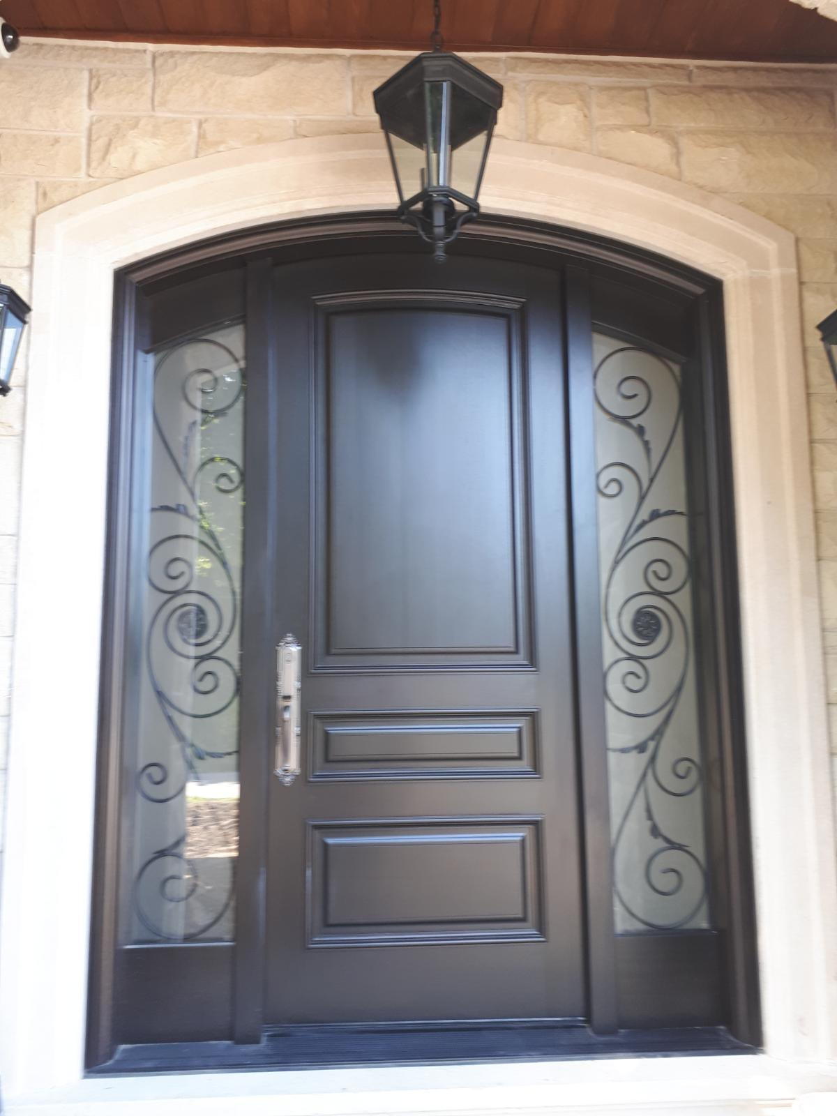 """Nothing worth having comes easy"" #SolidWood, #Doors, #Wood #Mahogany, #CustomMadeDoors, #EntryDoors.#DistinctiveLo­ok, #FityourHome Made by #NorthwoodDoorsInc. Your best value and quality, #HandCraftedDoors. Every door #Manifactured by us has our corporate stamp - a testament to our dedication and passion in #Woodwork. Let #NorthwoodDoorsInc. add to your home's #CurbAppeal by enhancing the quality and beauty of your #EntryDoors. Visit our #Showroom to envision how one of our many #doors on display might look like at your #Home. Contact us today Tel. 416-253-2034, info@northwooddoors.com, www.northwooddoor.com."