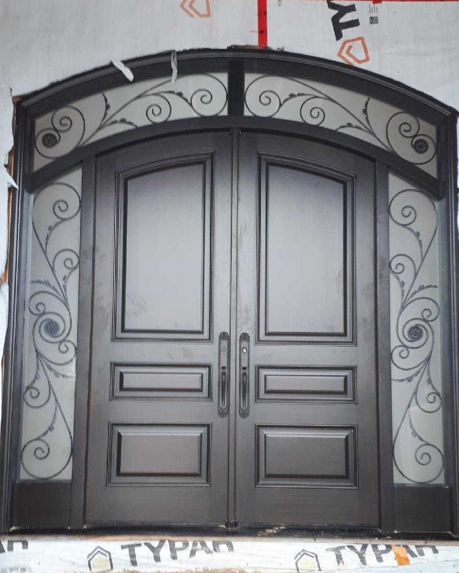 """Never let it rest. 'Til your good is better, and your better is best"" Height 120 inch, Width 108 inch #SolidWood, #Doors, #Wood #Mahogany, #CustomMadeDoors, #EntryDoors.#DistinctiveLo­ok, #FityourHome Made by #NorthwoodDoorsInc. Your best value and quality, #HandCraftedDoors. Every door #Manifactured by us has our corporate stamp - a testament to our dedication and passion in #Woodwork. Let #NorthwoodDoorsInc. add to your home's #CurbAppeal by enhancing the quality and beauty of your #EntryDoors. Visit our #Showroom to envision how one of our many #doors on display might look like at your #Home. Contact us today Tel. 416-253-2034, info@northwooddoors.com, www.northwooddoor.com — in Toronto, Ontario"