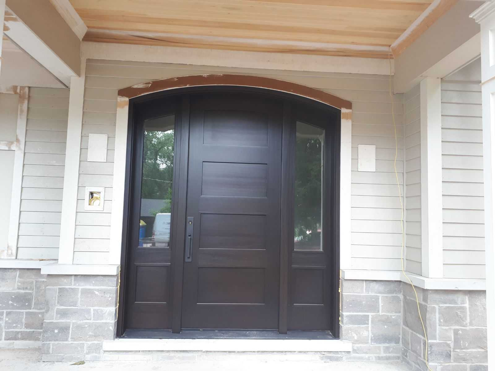 """""""Elegance is the only beauty that never fades"""" #SolidWood, #Doors, #Wood #Mahogany, #CustomMadeDoors, #EntryDoors.#DistinctiveLook, #FityourHome Made by #NorthwoodDoorsInc. Your best value and quality, #HandCraftedDoors. Every door #Manifactured by us has our corporate stamp - a testament to our dedication and passion in #Woodwork. Let #NorthwoodDoorsInc. add to your home's #CurbAppeal by enhancing the quality and beauty of your #EntryDoors. Visit our #Showroom to envision how one of our many #doors on display might look like at your #Home. Contact us today Tel. 416-253-2034, info@northwooddoors.com, www.northwooddoor.com — in Toronto, Ontario"""