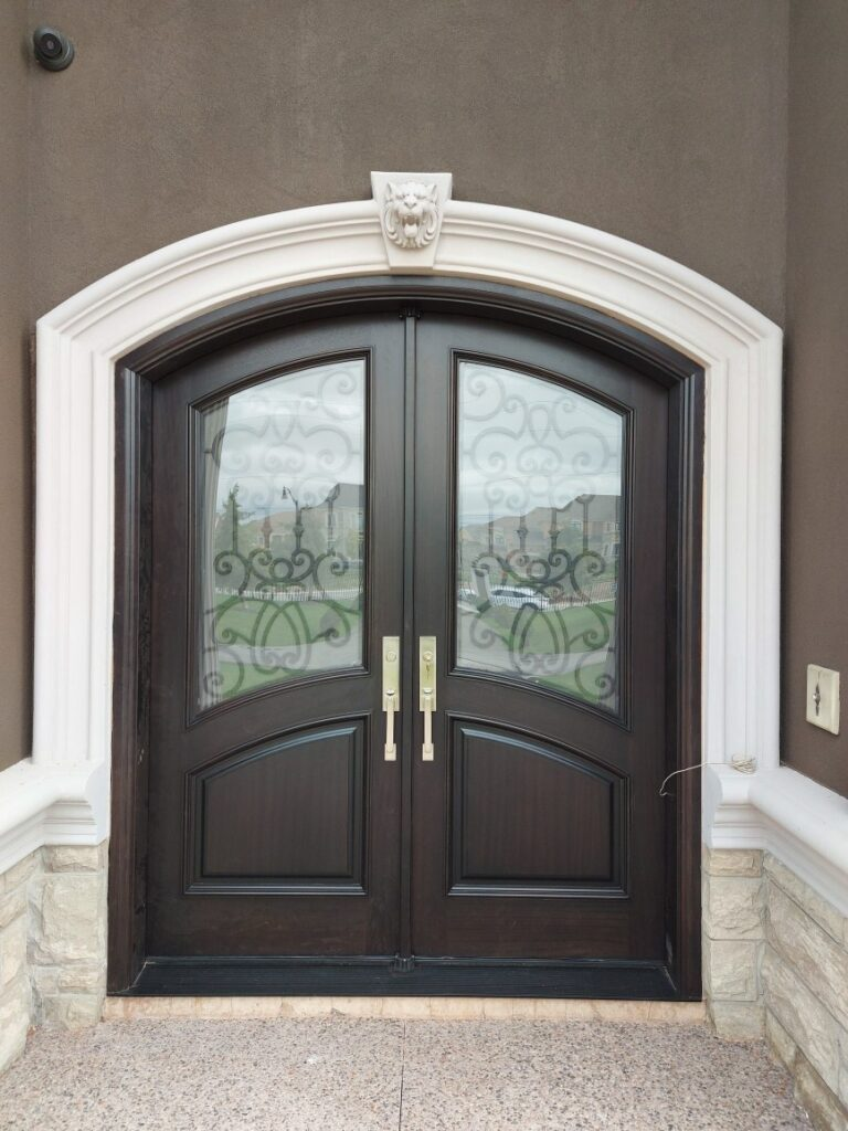 """"""" Perfection is achieved not when there is nothing more to add, but when there is nothing left to take away."""" #SolidWood, #Doors, #Wood, #Mahogany, #CustomMadeDoors, #DoorSupplier, #ExteriorDoors, #InteriorDoors #DoorManufacturer, #EntryDoors. #Woodwork, #MadeinCanada, #DistinctiveLook, #FityourHome Made by #NorthwoodDoorsInc. Your best value and quality, #HandCraftedDoors. Every door manufactured by us has our corporate stamp - a testament to our dedication and passion in woodwork. Let #NorthwoodDoorsInc. add to your home's #CurbAppeal by enhancing the quality and beauty of your #EntryDoors. Visit our #Showroom to envision how one of our many #doors on display might look like at your #Home. Contact us today Tel. 416-253-2034, info@northwooddoors.com, www.northwooddoor.com — in Toronto, Ontario"""