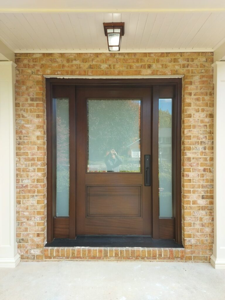 """"""" Look at usual things with unusual eyes."""" #SolidWood, #Doors, #Wood, #Mahogany, #CustomMadeDoors, #DoorSupplier, #ExteriorDoors, #InteriorDoors #DoorManufacturer, #EntryDoors. #Woodwork, #MadeinCanada, #DistinctiveLook, #FityourHome Made by #NorthwoodDoorsInc. Your best value and quality, #HandCraftedDoors. Every door manufactured by us has our corporate stamp - a testament to our dedication and passion in woodwork. Let #NorthwoodDoorsInc. add to your home's #CurbAppeal by enhancing the quality and beauty of your #EntryDoors. Visit our #Showroom to envision how one of our many #doors on display might look like at your #Home. Contact us today Tel. 416-253-2034, info@northwooddoors.com, www.northwooddoor.com — in Toronto, Ontario"""