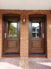 """""""Never overlook the power of simplicity."""" #SolidWood, #Doors, #Wood, #Mahogany, #CustomMadeDoors, #DoorSupplier, #ExteriorDoors, #InteriorDoors #DoorManufacturer, #EntryDoors. #Woodwork, #MadeinCanada, #DistinctiveLook, #FityourHome Made by #NorthwoodDoorsInc. Your best value and quality, #HandCraftedDoors. Every door manufactured by us has our corporate stamp - a testament to our dedication and passion in woodwork. Let #NorthwoodDoorsInc. add to your home's #CurbAppeal by enhancing the quality and beauty of your #EntryDoors. Visit our #Showroom to envision how one of our many #doors on display might look like at your #Home. Contact us today Tel. 416-253-2034, info@northwooddoors.com, www.northwooddoor.com — in Toronto, Ontario"""