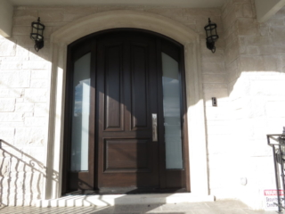 """""""The harder you work the luckier you get"""" #SolidWood, #Doors, #Wood #Mahogany, #CustomMadeDoors, #EntryDoors.#DistinctiveLook, #FityourHome Made by #NorthwoodDoorsInc. Your best value and quality, #HandCraftedDoors. Every door #Manifactured by us has our corporate stamp - a testament to our dedication and passion in #Woodwork. Let #NorthwoodDoorsInc. add to your home's #CurbAppeal by enhancing the quality and beauty of your #EntryDoors. Visit our #Showroom to envision how one of our many #doors on display might look like at your #Home. Contact us today Tel. 416-253-2034, info@northwooddoors.com, www.northwooddoor.com —at Toronto, Ontario"""