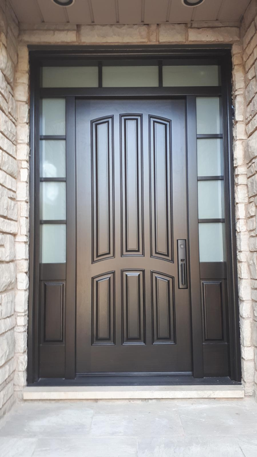 """""""Work hard in silence let success be your noise"""" #SolidWood, #Doors, #Wood #Mahogany, #CustomMadeDoors, #EntryDoors.#DistinctiveLook, #FityourHome Made by #NorthwoodDoorsInc. Your best value and quality, #HandCraftedDoors. Every door #Manifactured by us has our corporate stamp - a testament to our dedication and passion in #Woodwork. Let #NorthwoodDoorsInc. add to your home's #CurbAppeal by enhancing the quality and beauty of your #EntryDoors. Visit our #Showroom to envision how one of our many #doors on display might look like at your #Home. Contact us today Tel. 416-253-2034, info@northwooddoors.com, www.northwooddoor.com — in Toronto, Ontario"""