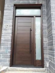 """""""It is a lot easier to do good work when you have good words to say and work with good people"""" #SolidWood, #Doors, #Wood, #Mahogany, #CustomMadeDoors, #DoorSupplier, #ExteriorDoors, #InteriorDoors #DoorManufacturer, #EntryDoors. #Woodwork, #MadeinCanada, #DistinctiveLook, #FityourHome Made by #NorthwoodDoorsInc. Your best value and quality, #HandCraftedDoors. Every door manufactured by us has our corporate stamp - a testament to our dedication and passion in woodwork. Let #NorthwoodDoorsInc. add to your home's #CurbAppeal by enhancing the quality and beauty of your #EntryDoors. Visit our #Showroom to envision how one of our many #doors on display might look like at your #Home. Contact us today Tel. 416-253-2034, info@northwooddoors.com, www.northwooddoor.com — in Toronto, Ontario"""