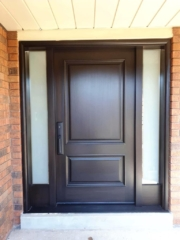 """""""Success is the sum of small effords repeated day in and day out"""" #SolidWood, #Doors, #Wood #Mahogany, #CustomMadeDoors, #EntryDoors.#DistinctiveLook, #FityourHome Made by #NorthwoodDoorsInc. Your best value and quality, #HandCraftedDoors. Every door #Manifactured by us has our corporate stamp - a testament to our dedication and passion in #Woodwork. Let #NorthwoodDoorsInc. add to your home's #CurbAppeal by enhancing the quality and beauty of your #EntryDoors. Visit our #Showroom to envision how one of our many #doors on display might look like at your #Home. Contact us today Tel. 416-253-2034, info@northwooddoors.com, www.northwooddoor.com — in Toronto, Ontario"""