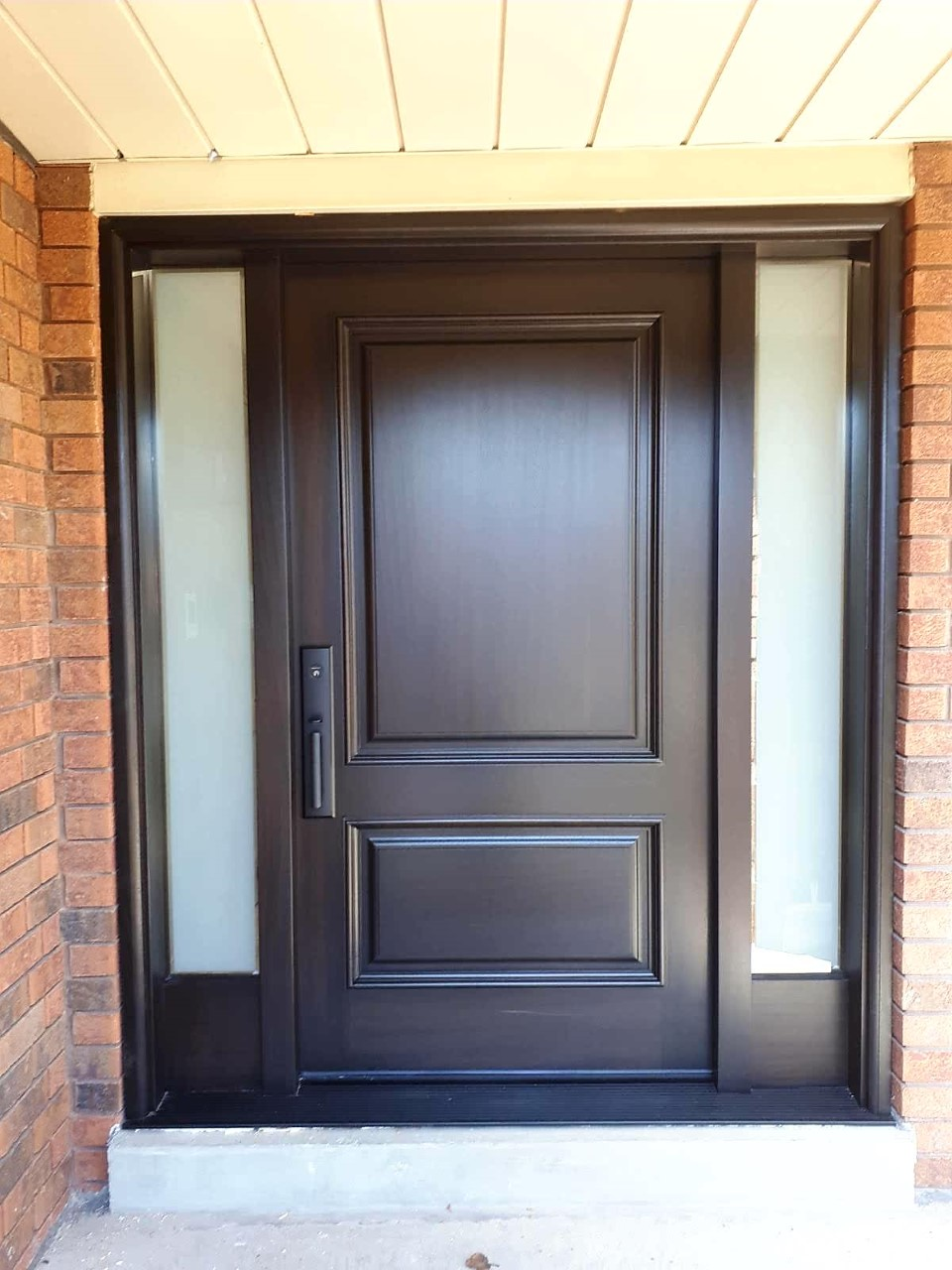 """Success is the sum of small effords repeated day in and day out"" #SolidWood, #Doors, #Wood #Mahogany, #CustomMadeDoors, #EntryDoors.#DistinctiveLo­ok, #FityourHome Made by #NorthwoodDoorsInc. Your best value and quality, #HandCraftedDoors. Every door #Manifactured by us has our corporate stamp - a testament to our dedication and passion in #Woodwork. Let #NorthwoodDoorsInc. add to your home's #CurbAppeal by enhancing the quality and beauty of your #EntryDoors. Visit our #Showroom to envision how one of our many #doors on display might look like at your #Home. Contact us today Tel. 416-253-2034, info@northwooddoors.com, www.northwooddoor.com — in Toronto, Ontario"