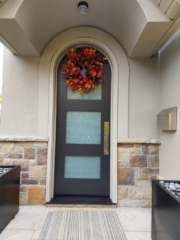 """""""Simplicity is the soul of modern elegance."""" #SolidWood, #Doors, #Wood, #Mahogany, #CustomMadeDoors, #DoorSupplier, #ExteriorDoors, #InteriorDoors #DoorManufacturer, #EntryDoors. #Woodwork, #MadeinCanada, #DistinctiveLook, #FityourHome Made by #NorthwoodDoorsInc. Your best value and quality, #HandCraftedDoors. Every door manufactured by us has our corporate stamp - a testament to our dedication and passion in woodwork. Let #NorthwoodDoorsInc. add to your home's #CurbAppeal by enhancing the quality and beauty of your #EntryDoors. Visit our #Showroom to envision how one of our many #doors on display might look like at your #Home. Contact us today Tel. 416-253-2034, info@northwooddoors.com, www.northwooddoor.com — in Toronto, Ontario"""