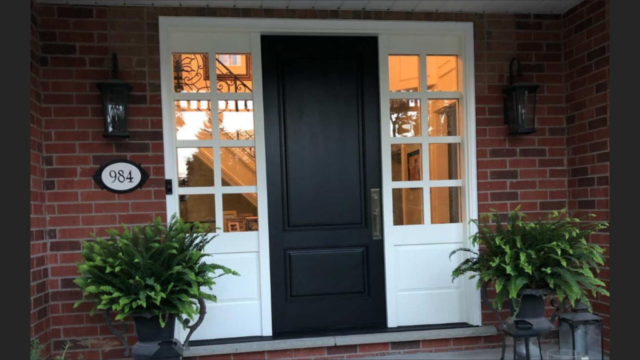 """""""Black and white is mix of toughest simpliciity and easiest complexity"""" #SolidWood, #Doors, #Wood #Mahogany, #CustomMadeDoors, #EntryDoors.#DistinctiveLook, #FityourHome Made by #NorthwoodDoorsInc. Your best value and quality, #HandCraftedDoors. Every door #Manifactured by us has our corporate stamp - a testament to our dedication and passion in #Woodwork. Let #NorthwoodDoorsInc. add to your home's #CurbAppeal by enhancing the quality and beauty of your #EntryDoors. Visit our #Showroom to envision how one of our many #doors on display might look like at your #Home. Contact us today Tel. 416-253-2034, info@northwooddoors.com, www.northwooddoor.com — in Toronto, Ontario"""