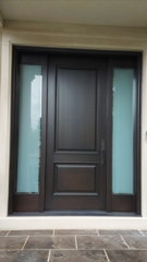 """""""The dark does not destroy the light, it defines it."""" #SolidWood, #Doors, #Wood, #Mahogany, #CustomMadeDoors, #DoorSupplier, #ExteriorDoors, #InteriorDoors #DoorManufacturer, #EntryDoors. #Woodwork, #MadeinCanada, #DistinctiveLook, #FityourHome Made by #NorthwoodDoorsInc. Your best value and quality, #HandCraftedDoors. Every door manufactured by us has our corporate stamp - a testament to our dedication and passion in woodwork. Let #NorthwoodDoorsInc. add to your home's #CurbAppeal by enhancing the quality and beauty of your #EntryDoors. Visit our #Showroom to envision how one of our many #doors on display might look like at your #Home. Contact us today Tel. 416-253-2034, info@northwooddoors.com, www.northwooddoor.com — in Toronto, Ontario"""